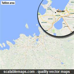 Scalablemaps vector maps of tallinn for illustrator vector map of tallinn estonia gumiabroncs Choice Image