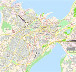Vector map of Tallinn (center), Estonia