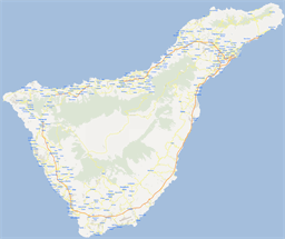 Vector map of Tenerife, Spain