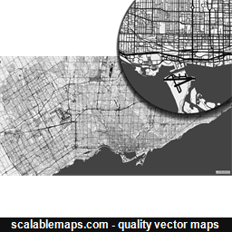 Vector map of Toronto, Canada