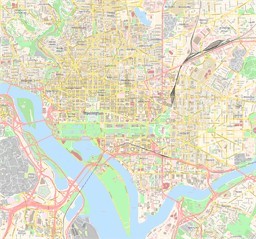 Vector map of Washington, USA