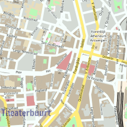 ScalableMaps Vector map of Antwerp center colorful city map theme