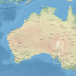 Map Of Australia Pdf.Vector Map Of Australia Natural Cities Low Theme In Ai And Pdf Formats