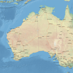 Map Of Australia Roads.Vector Map Of Australia Natural Roads Low Theme In Ai And Pdf Formats