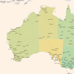 Map Of Australia Roads.Vector Map Of Australia Roads Low2 Theme In Ai And Pdf Formats