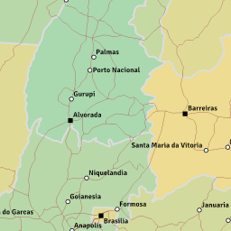 ScalableMaps Vector map of Brazil low scale road network theme