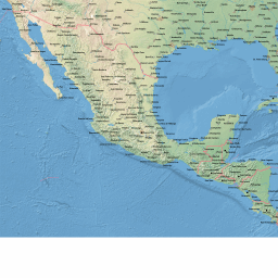 ScalableMaps: Vector map of Central America (shaded relief (raster ...