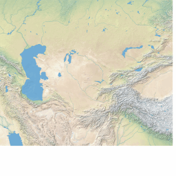 FREE vector map of Central Asia (shaded relief theme ...