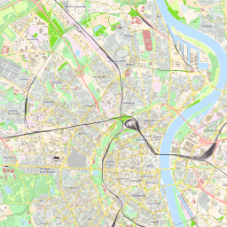 ScalableMaps: Vector map of Cologne (center) (colorful city map theme)