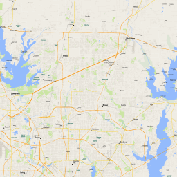 ScalableMaps: Vector map of Dallas and Fort Worth (gmap regional map on