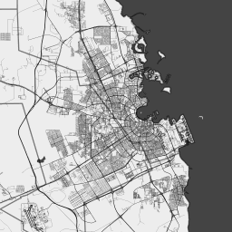 ScalableMaps: Vector map of Doha (black & white, no labels ... on alexandria area map, kyoto area map, rotterdam area map, cairo area map, qatar area map, hangzhou area map, narita area map, hyderabad area map, berlin area map, beijing area map, baghdad area map, kowloon area map, warsaw area map, bahrain area map, lilongwe area map, phnom penh area map, macau area map, mosul area map, kuala lumpur area map, bilbao area map,