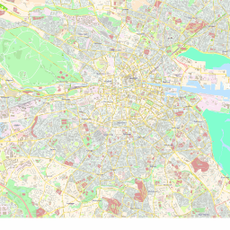ScalableMaps: Vector map of Dublin (center) (colorful city map theme)