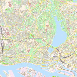 Hamburg Map Of Germany.Vector Map Of Hamburg Street Theme In Ai And Pdf Formats