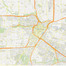 ScalableMaps: Vector map of Houston (center) (gmap city map theme) on