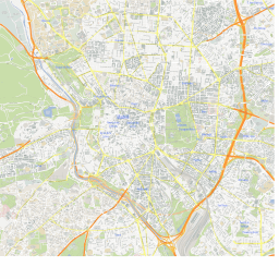 ScalableMaps: Vector map of Madrid (center) (gmap city map theme) on