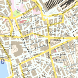 ScalableMaps Vector map of Marseille center colorful city map theme
