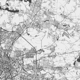 Vector map of Moscow (bw-nolabels theme) in AI and SVG formats
