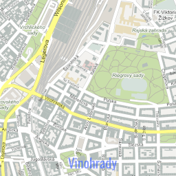 ScalableMaps Vector map of Prague center gmap city map theme