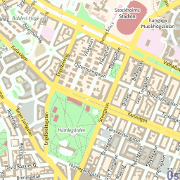 ScalableMaps Vector map of Stockholm center colorful city map theme