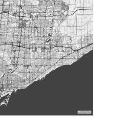 Map Of Canada With Labels.Vector Map Of Toronto Bw Nolabels Theme In Ai And Svg Formats