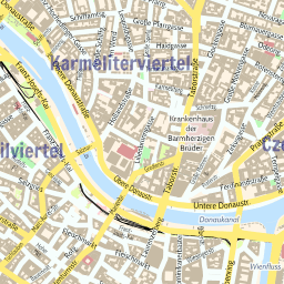 ScalableMaps Vector map of Vienna center colorful city map theme