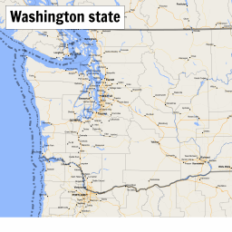 Scalablemaps Vector Map Of Washington State Gmap Smaller Scale Map Theme